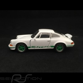Porsche 911 Carrera RS 2.7 Spielzeug Reibung Welly weiß / grün