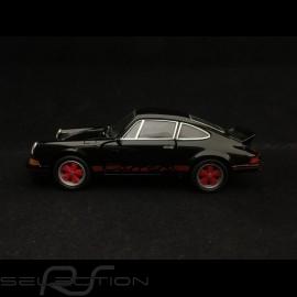 Porsche 911 Carrera RS 2.7 Spielzeug Reibung Welly schwarz / rot