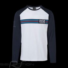 Porsche Langarm-Shirt Martini Collection weiß / blau Porsche WAP553 - Herren