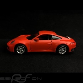 Porsche 911 type 992 Carrera 4S Coupe lava orange Pullback Spielzeug 1/43 WAP0200270K