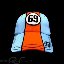 Cap Gulf Vintage 69 Lucky Number blau / orange