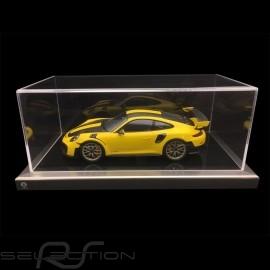 1/18 Vitrine für Porsche Modelle schwarze Base / Aluminium Rahmen premium quality