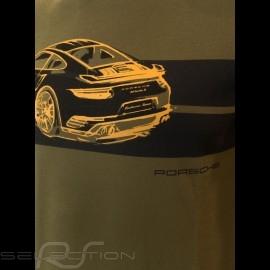 Porsche T-shirt 911 Turbo S khaki grün Porsche Design WAP930K0SR - Unisex