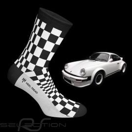 911 Carrera SC Pasha Socken schwarz / weiß - Unisex
