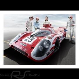 Porsche 917K Sieger Le Mans 70 plakat 29.7cm x 42cm