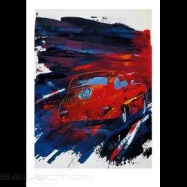 Porsche 356 rot Reproduktion eines Originalgemäldes von Uli Hack