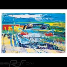 Porsche Boxster typ 986 Silber Reproduktion eines Originalgemäldes von Uli Hack