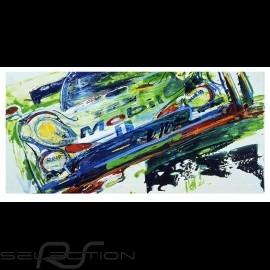 Porsche 911 GT1 Sieger 24h Le Mans 1998 Reproduktion eines Originalgemäldes von Uli Hack