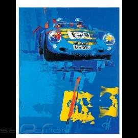 Porsche 550 spyder blue Mille Miglia 2003 Reproduktion eines Originalgemäldes von Uli Hack