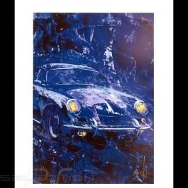 Porsche 356 State of Art Belgien Blau Reproduktion eines Originalgemäldes von Uli Hack