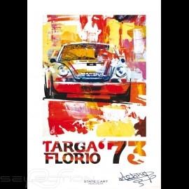 Porsche 911 Carrera RSR Targa Florio 1973 signature Reproduktion eines Originalgemäldes von Uli Hack