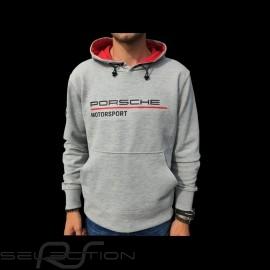 Porsche Kapuzenpullover Motorsport Collection hoodie grau / rot WAP816LFMS - Herren