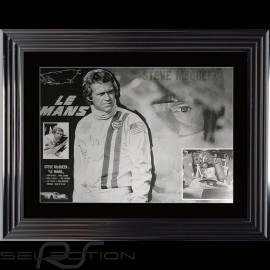 Steve McQueen Plakat Le Mans 1970 Luxus Rahmen 74 x 94
