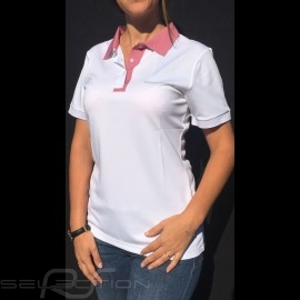 Porsche Polo shirt Taycan Collection Weiß / Rosa Porsche WAP604LTYC - Damen