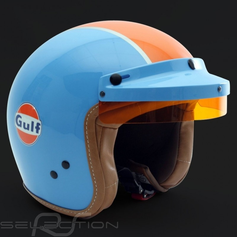 Gulf  Helm cobaltblau / orange