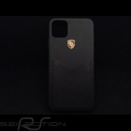 Porsche Hülle für iPhone 11 schwarzes Leder WAP0300090LLTH