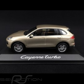Porsche Cayenne Turbo typ 958 2015 palladium beige metallic 1/43 Minichamps WAP0200050E