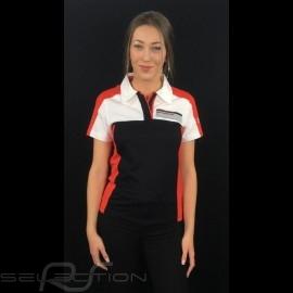Adidas Polo Porsche Motorsport schwarz / weiß / rot / grau Porsche Design WAX301001 - Damen