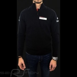 Adidas Strickpullover Porsche Motorsport Baumwollmischung Schwarz Porsche Design WAX10101 - Kinder