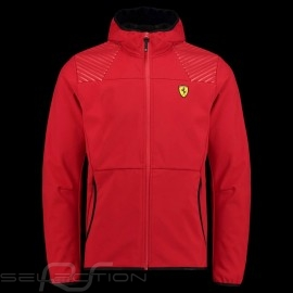 Ferrari Hoodie Jacke Softshell Rot Ferrari Motorsport Collection - Herren