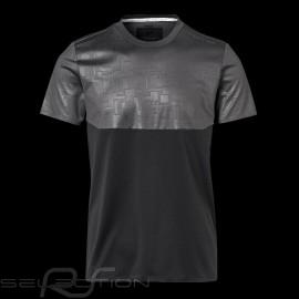 Porsche Design T-shirt Performance Asphaltgrau / Schwartz Porsche Design Colourblock Tee - Herren