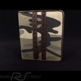 Gulf Tarnung Geldbeutel Brieftasche und Kartenhalter Braun Leder