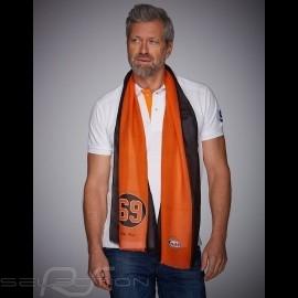 Schal Gulf n° 69 orange und schwarz Streifen