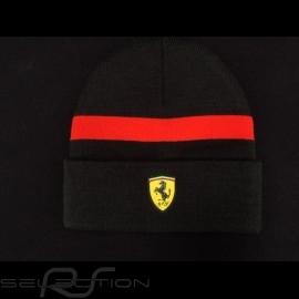 Ferrari  Mütze schwarz / roter Streifen