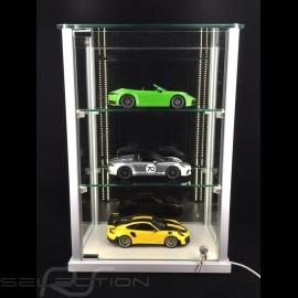 Glasvitrine mit LED Beleuchtung Massgeschnitten für bis zu 15 1/43 Modellautos