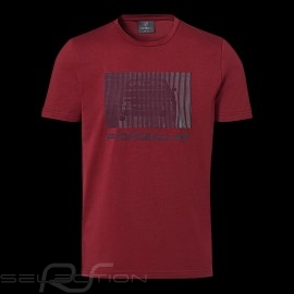 Porsche T-shirt 924 Collection Bordeaux rot Porsche Design WAP440L924 - Herren