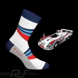 Martini 936 Socken blau / rot / weiß - Unisex