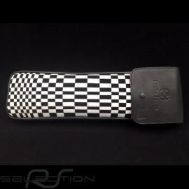 Original Porsche Pascha schwarz und weiß / Schwarzes Recaro Leder Tasche mit Klappe - Erste-Hilfe-Kasten enthalten