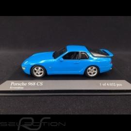 Porsche 968 CS 1993 Riviera blau 1/43 Minichamps 400062320