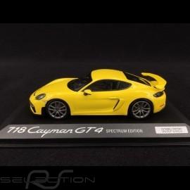 Porsche 718 Cayman GT4 typ 982 2019 racinggelb Spectrum Edition 1/43 Minichamps WAP0200870L002