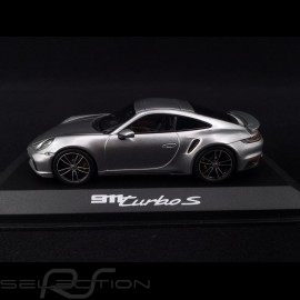 Porsche 911 typ 992 Turbo S 2020 GT Silbergrau 1/43 Minichamps WAP0201780K
