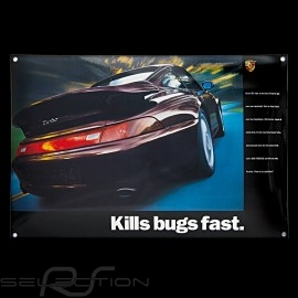 Porsche Emailleschild 911 Turbo type 993 Kills bugs fast 40 x 60 cm PCG00099310