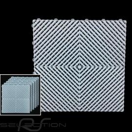 Premium-Garagenplatten Farbe Gulfblau Pantone297C Deutsche Herstellung - 20 Jahre Garantie - Satz mit 6 Platten von 40 x 40 cm
