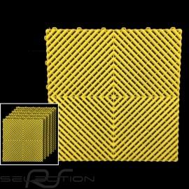 Premium-Garagenplatten Farbe Gelb RAL1018 Deutsche Herstellung - 20 Jahre Garantie - Satz mit 6 Platten von 40 x 40 cm