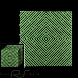 Premium-Garagenplatten Farbe Hellgrün RAL6018 Deutsche Herstellung - 20 Jahre Garantie - Satz mit 6 Platten von 40 x 40 cm