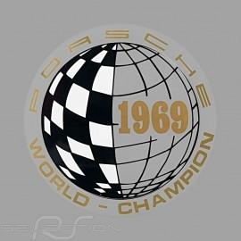 Aufkleber Porsche World Champion 1969 für die Innenseite von Gläsern