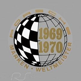 Aufkleber Porsche Marken Weltmeister 1969-1970 für die Innenseite von Gläsern