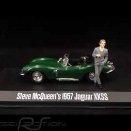 Jaguar XKSS 1957 grün mit steve mcqueen figur 1/43 GreenLight 86434