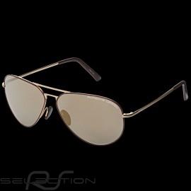 Porsche Sonnenbrille Heritage goldener - bordeaux Rahmen / golden Gläser WAP0785080LHRT - Unisex