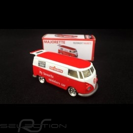 VW Bulli Delivery Truck 1/64 Rot / Weiß Majorette 212052016
