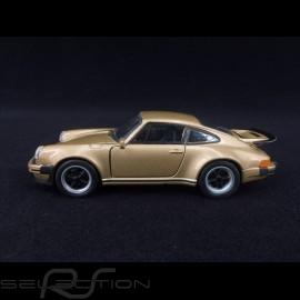 Porsche 911 Turbo 3.0 1975 gold Spielzeug Reibung Welly