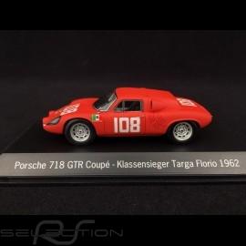 Porsche 718 GTR Coupé Targa Florio 1962 n°108 1/43 Spark MAP02017115