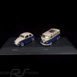 Set VW Käfer / VW Bulli T1 Samba 1/43 Schuco 450269300