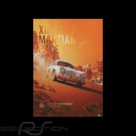 Porsche Poster 356 SL n° 153 XII Martian Race 2096 Limitierte Auflage
