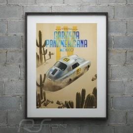 Porsche Poster 356 SL n° 153 Carrera Panamericana 1953 Limitierte Auflage