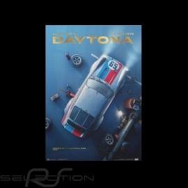 Porsche Poster 911 2.8 Carrera RSR n° 59 Brumos Sieger 24h Daytona 1973 Limitierte Auflage